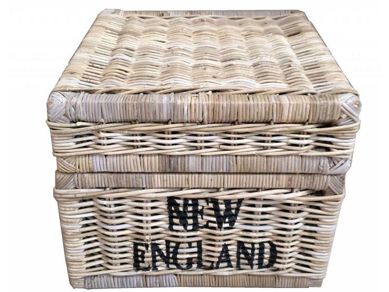 GeWoon Vierkante rieten mand - New England