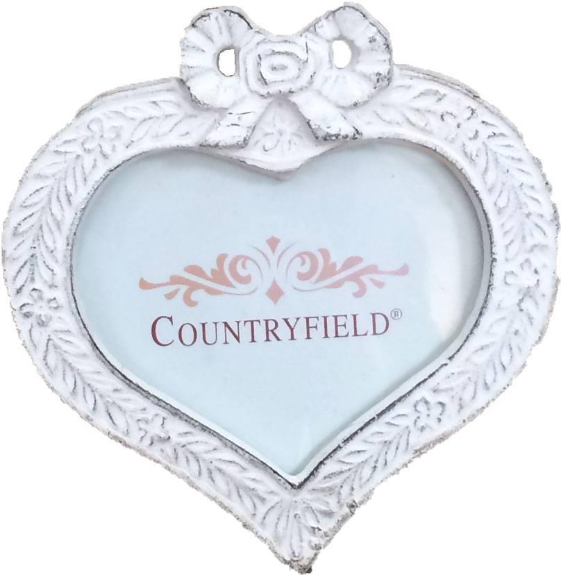 Countryfield Metalen whitewash fotolijstje - Hart