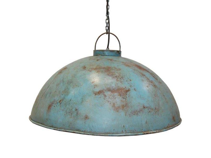 Trademark Living Metalen hanglamp lichtblauw - 52 cm