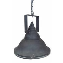 Zwarte metalen hanglamp - 36 cm