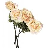 GeWoon Roze kunstrozen s/4 - 80 cm