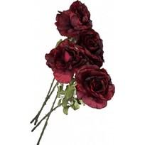 Rode kunstrozen s/4 - 80 cm