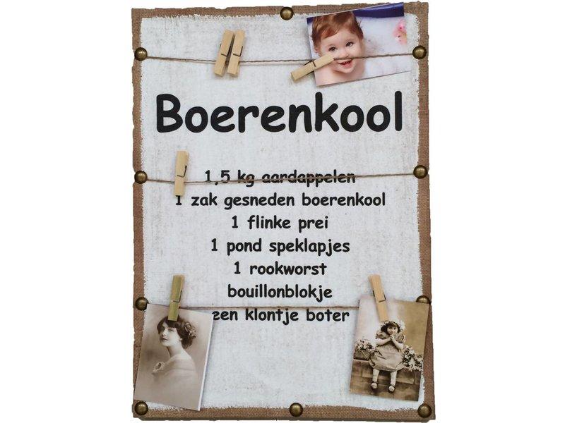 GeWoon Memobord 41x59 cm - Boerenkool