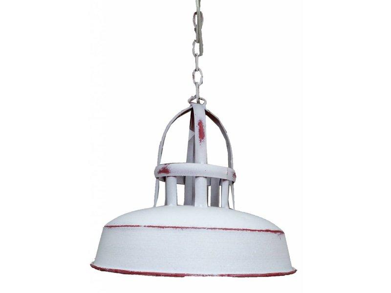 GeWoon Wit rode metalen hanglamp - 25x21 cm