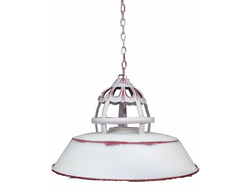 GeWoon Wit rode metalen hanglamp - 36x24 cm