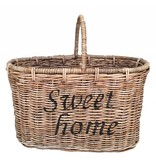GeWoon Rieten bloemenmand - Sweet Home