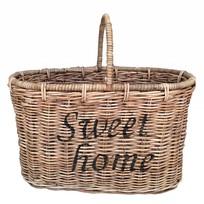 Rieten bloemenmand - Sweet Home