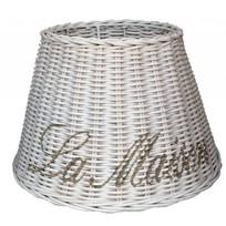 Kleine witte rieten lampenkap - La Maison