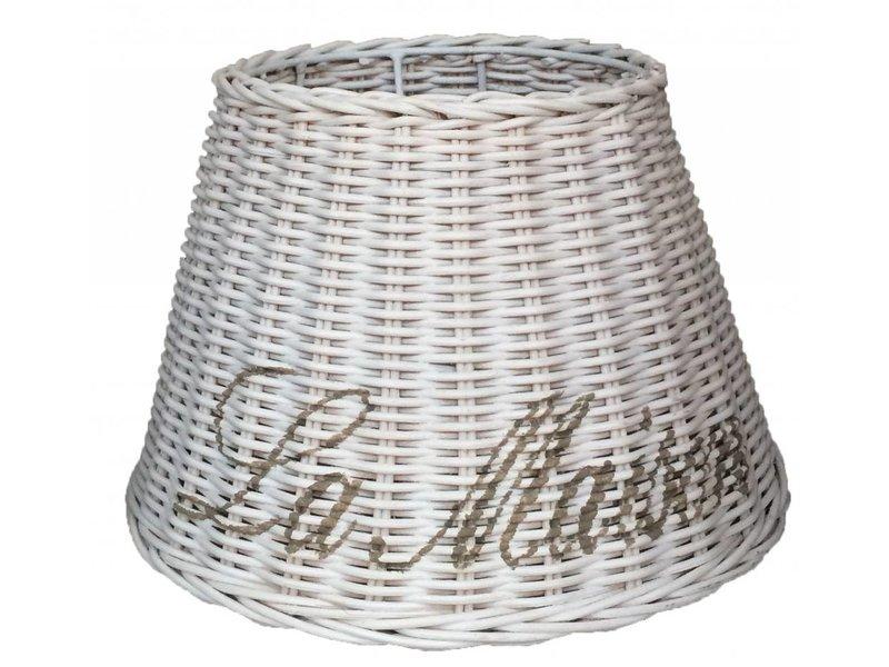 GeWoon Kleine witte rieten lampenkap - La Maison