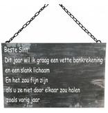 GeWoon Metalen tekstbord 30x40 cm - Beste Sint...