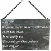 Metalen tekstbord 30x40 cm - Beste Sint...