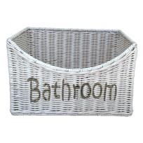 Rieten badkamermand Wit - Bathroom