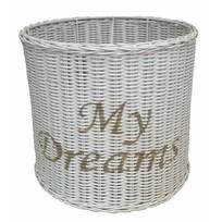 Witte ronde rieten hanglampenkap - My Dreams