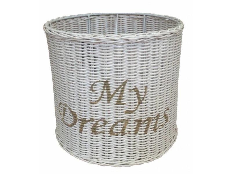 GeWoon Witte ronde rieten hanglampenkap - My Dreams