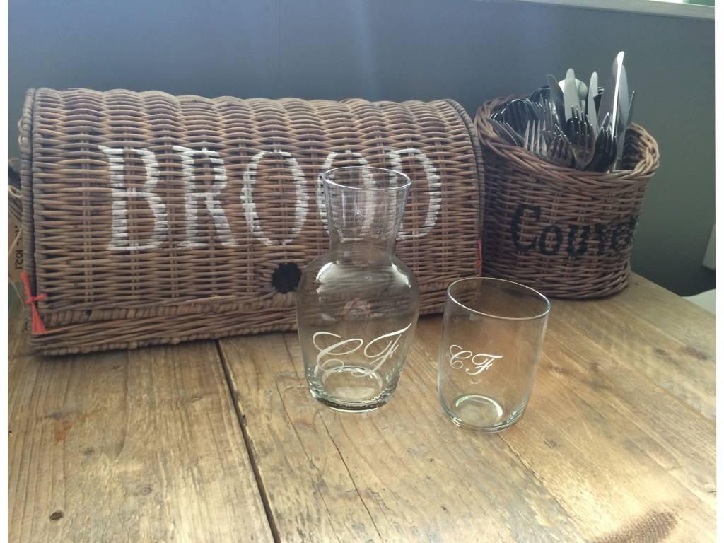 Countryfield Glazen karaf met glas CF