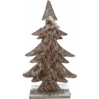 Bruine houten kerstboom - Zachow