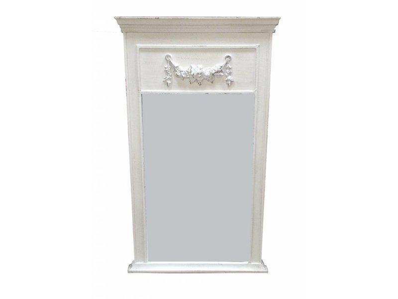 Countryfield Whitewash houten spiegel Belvue - 110x63
