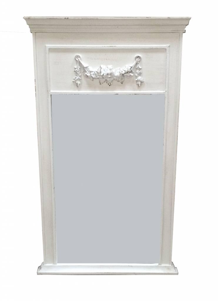 Countryfield Whitewash houten spiegel Belvue 110x63