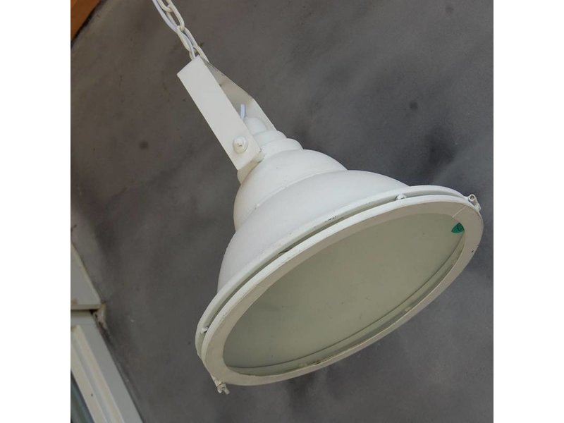 GeWoon Witte metalen hanglamp - 36x33 cm