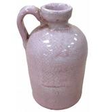 GeWoon Roze aardewerk kan - 11x18 cm
