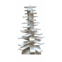 Whitewash houten kerstboom Mamers - 32x42 cm