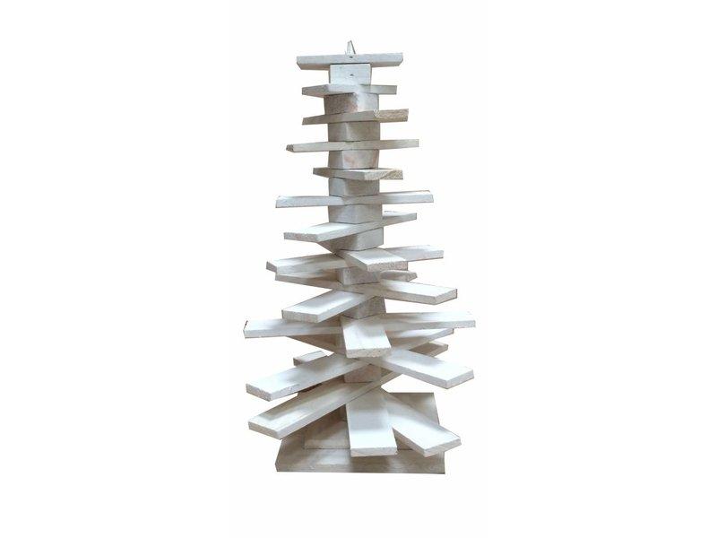 Countryfield Whitewash houten kerstboom Mamers - 32x42 cm