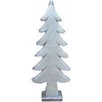 Witte keramieke kerstboom Pansey - 58 cm