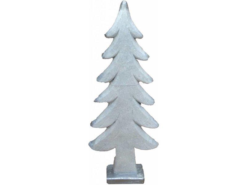 Countryfield Witte keramieke kerstboom Pansey - 58 cm