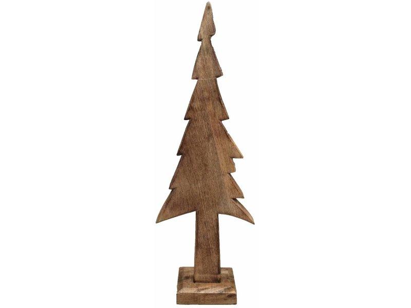 GeWoon Bruine houten kerstboom Ret - 27x70 cm