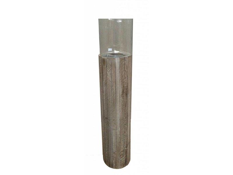 GeWoon Houten windlicht Old Pine L - 114 cm