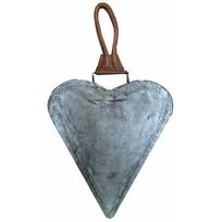 Grey metalen hart Merry Christmas - 27x27 cm