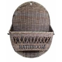 Rieten badkamermand Bathroom - 50 cm