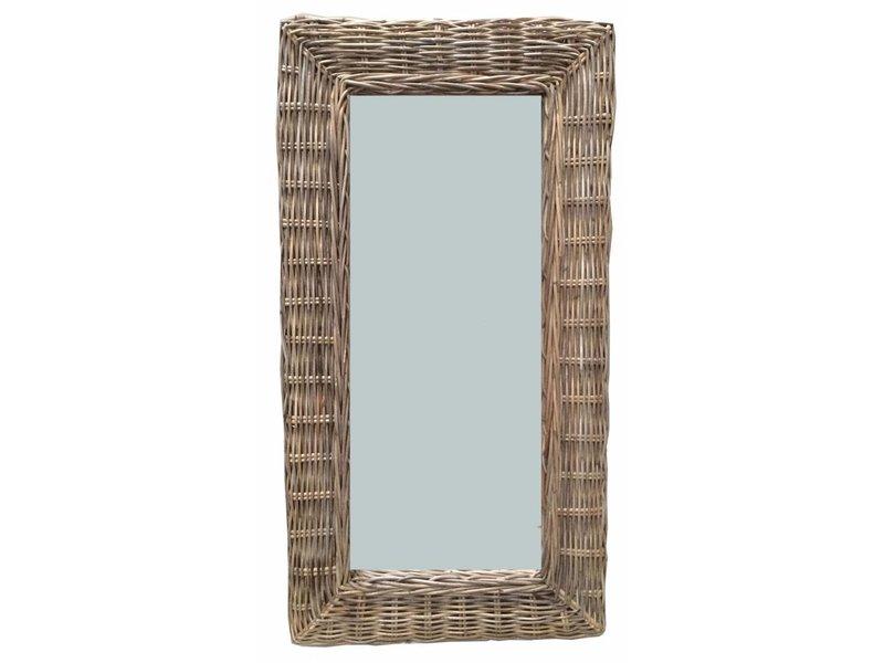 GeWoon Rieten spiegel - 30x53 cm