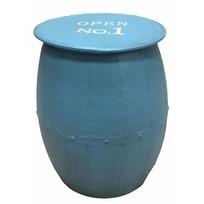 Blue metalen kruk Open No.1 - 31xH41 cm