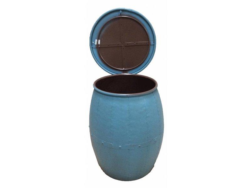 GeWoon Blue metalen kruk Open No.1 - 31xH41 cm