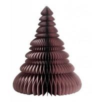 Dusty purple papieren kerstboom - H24 cm