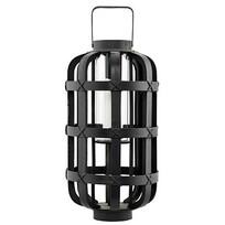 Zwarte lantaarn Bamboo - H55 cm