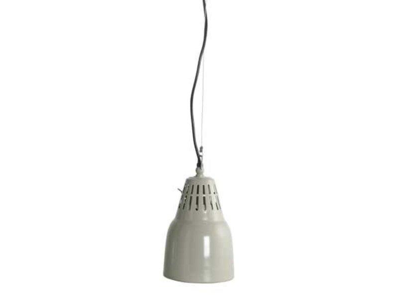 House Doctor Grijze aluminium hanglamp Pillar - 14xH20 cm