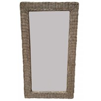 Grote rieten spiegel - 116x63 cm