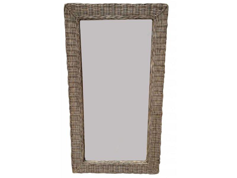 GeWoon Grote rieten spiegel - 116x63 cm