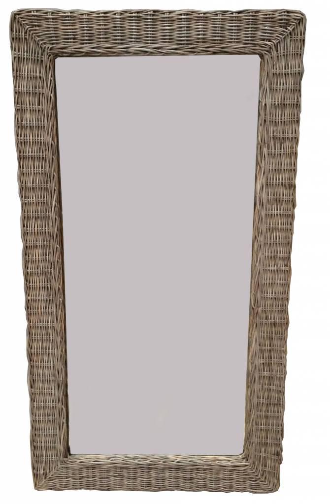 Gewoon Grote Rieten Spiegel 116x63 Cm Gewoon kopen