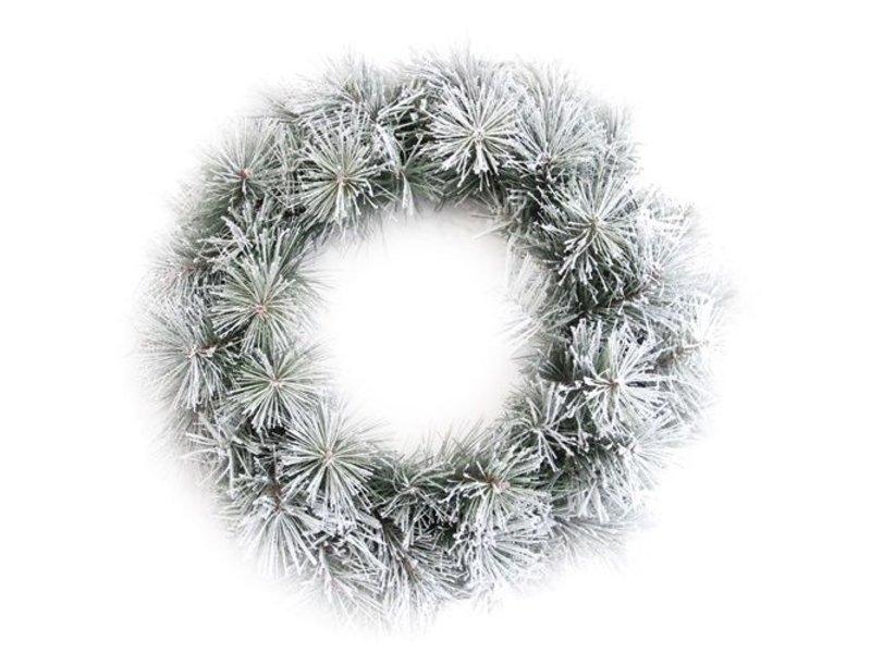 GeWoon Besneeuwde krans winter - 50 cm