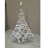 GeWoon Whitewash rotan wilgenboom met lichtjes - 80 cm