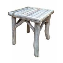 White houten tafeltje Morrice - 36x36xH40 cm
