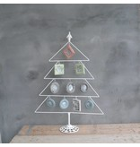 GeWoon Whitewash metalen boom met lijsten - 55xH78 cm