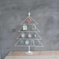 Whitewash metalen boom met lijsten - 55xH78 cm