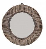 GeWoon Ronde rieten spiegel - 28 cm