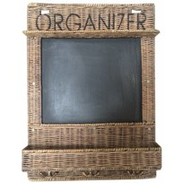 Rieten memobord Organizer - 40xH55 cm