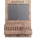 GeWoon Rieten krijtbord Notes - B45xH65 cm