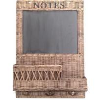 Rieten krijtbord Notes - B45xH65 cm
